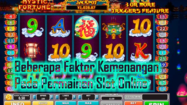 Beberapa Faktor Kemenangan Pada Permainan Slot Online